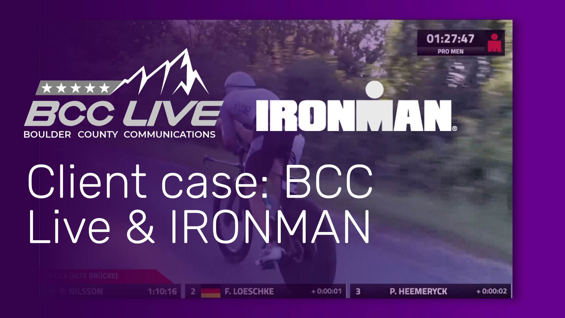 Flowics Provides Real-Time Graphics for BCC Live's Stream of Mainova IRONMAN