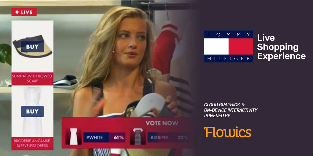 Flowics powers interactive Live Video Shopping experience for Tommy Hilfiger